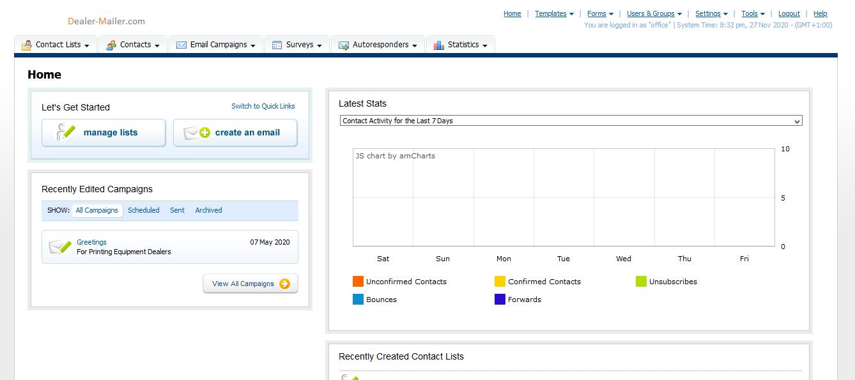 Control Panel Screenshot 1